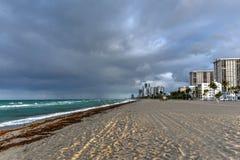 Hollywood strand - Florida royaltyfri bild