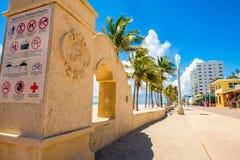 Hollywood strand Florida royaltyfri foto