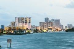 Hollywood strandhorisont, Florida arkivbilder