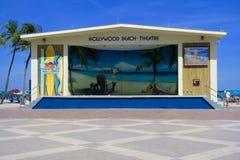 Hollywood strandteater arkivbilder