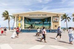 Hollywood strandteater, Florida arkivfoton