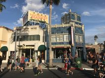 Hollywood Studios. Guests arrive for a fun day at Hollywood Studios located in Orlando, Florida stock photos