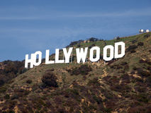 hollywood tecken arkivbild