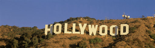 Hollywood tecken arkivfoto