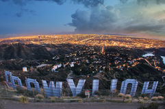 Hollywood tecken royaltyfri foto