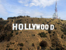 Hollywood tecken arkivbilder