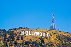 Hollywood tecken Fotografering för Bildbyråer
