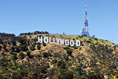 Hollywood tecken Royaltyfria Foton