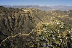 Hollywood tecken arkivbilder