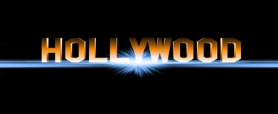 Hollywood tecken royaltyfri illustrationer
