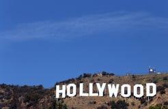Hollywood tecken royaltyfri bild