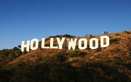 hollywood tecken Arkivfoton