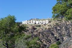 Hollywood tecken; Berömd gränsmärke för värld Arkivbilder