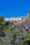 Hollywood tecken; Berömd gränsmärke för värld Arkivfoton
