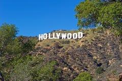 Hollywood tecken; Berömd gränsmärke för värld Royaltyfria Foton