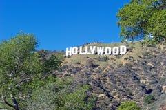 Hollywood tecken; Berömd gränsmärke för värld Fotografering för Bildbyråer