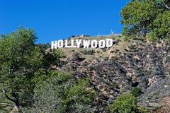 Hollywood tecken; Berömd gränsmärke för värld Arkivfoto