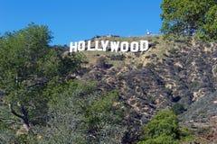 Hollywood tecken; Berömd gränsmärke för värld Royaltyfri Fotografi