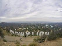 Hollywood tecken från baksida Royaltyfria Bilder
