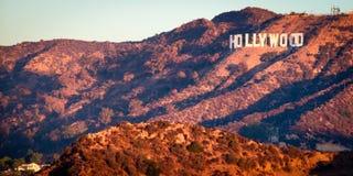 Hollywood tecken från Griffith Observatory arkivfoton