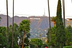 Hollywood tecken från Hollywood för evigtkyrkogård arkivbilder