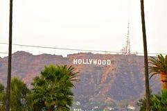 Hollywood tecken från Hollywood för evigtkyrkogård royaltyfri bild