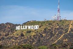 Hollywood tecken - Los Angeles, Kalifornien, USA arkivfoto