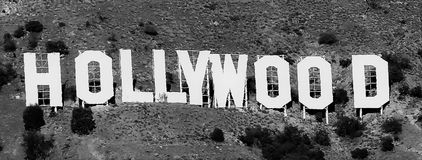 Hollywood tecken och omgeende område fotografering för bildbyråer