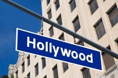 Hollywood teckenillustration över LAboulevarden arkivbild