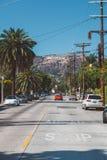Hollywood teckenområde i Los Angeles, USA royaltyfri fotografi