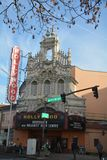 Hollywood Theatre facade in Portland, Oregon. The Hollywood Theatre is a historic movie theater in northeast Portland, Oregon, owned by a non-profit organization stock images
