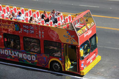 Hollywood Tour Bus Stock Photo