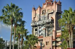 Hollywood Tower ride in Magic Kingdom Theeme Family Park royalty free stock photos