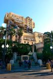 Hollywood Tower of Terror at Disney's California Adventure Park Royalty Free Stock Photos