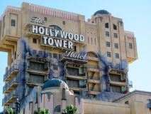 Hollywood Tower of Terror. This is the Hollywood Tower of Terror ride at the Disney park in California stock images
