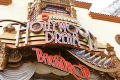 Hollywood-Traum-Fahr- und Hintergrundstation Stockfotos