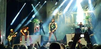 Hollywood Undead levend in overleg, Roman Arenas, Boekarest, Roemenië Stock Foto's