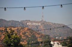 Hollywood undertecknar i Hollywoodet Hills royaltyfria foton