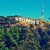 Hollywood undertecknar i monteringen Lee, Los Angeles, United States arkivfoto