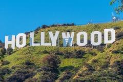 Hollywood undertecknar in kullarna av Hollywood - Kalifornien, USA - mars 18, 2019 arkivbild