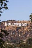 Hollywood undertecknar in monteringslä, Los Angeles arkivfoto