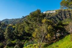 Hollywood unterzeichnen herein die Hügel von Hollywood - Kalifornien, USA - 18. März 2019 lizenzfreies stockbild