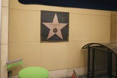 HOLLYWOOD, USA - CIRCA IM NOVEMBER 2017: Muhammad Ali-Stern auf Wand in Hollywood Stockbild
