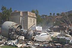 Hollywood USA, Oktober, 2: Konstgjorda Immitation av Airplanen royaltyfri foto