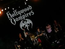 Hollywood Vampires concert. Hollywood Vampires band playing concert Stock Images