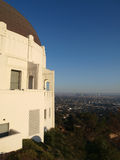Hollywood View. Griffith Park Observatory overlooking Los Angeles Stock Photo