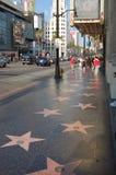 Hollywood: vista della camminata di fama Fotografie Stock