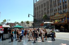 Hollywood walk of fame Stock Photos