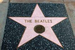 Hollywood Walk of Fame Stock Photo
