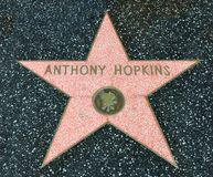 Hollywood Walk of Fame - Anthony Hopkins Royalty Free Stock Photo